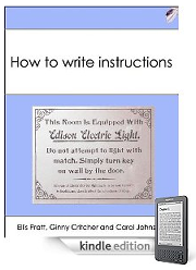 How to write instructions book